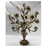 French Bronze 19th C. Lily Candelabra