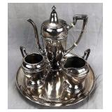 Ariston Sterling Silver Tea Set on Tray