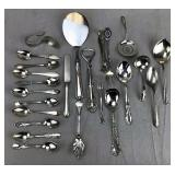 24 Assorted Sterling Silver Utensils
