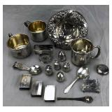 "Collection of Antique Sterling Silver ""Smalls"""