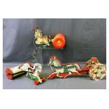 Vintage Lithograph Wooden Pull Toys