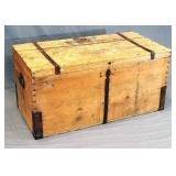 19th C. German Trunk with Wrought Iron Straps