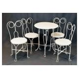 Antique Ice Cream Parlor Set Table 4 Chairs