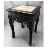 Antique Asian Rosewood Table with Marble Top
