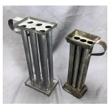 2 Tin 6 Capacity Candle Molds