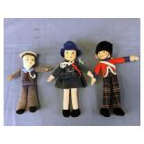 3 English Norah Wellings Dolls