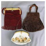 3 Vintage Beaded Evening Bags