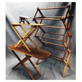 3 Antique Toy Ironing Boards, Drying Rack