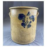 Large Salt Glazed Stoneware Crock Mid 19th Century