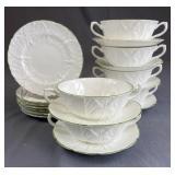 Tiffany Coalport Countryware Cream Soup, B&B Plate