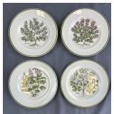 "Set of 4 Tiffany & Co. ""Herbs"" Botanical Plates"