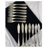 German 800 Silver Jean Koch Fish Forks, Knives