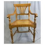 Sheraton Armchair, Cane Seat and Inlay C. 1820
