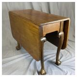 English Chippendale Walnut Drop Leaf Table REO