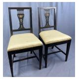 Pair Early 19th Century Painted Chairs