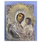 Russian Icon Madonna and Child 19th Century