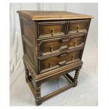 Early 20th C. English 3 Drawer Chest REO