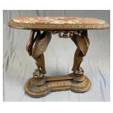 Early 20th C. Marble Top Console Table Italy REO