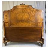 Pair 1920s Inlaid Headboards Orinoco Furniture REO