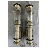 Pair 19th C. French Railway Lanterns P.L.M. Paris