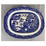 Davenport Blue Willow Platter England C.1850
