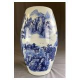 Blue & White Porcelain Floor Vase Umbrella Stand