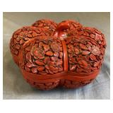 Chinese Cinnabar Lacquer Pumpkin Box