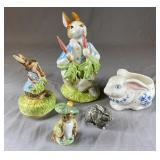 Collection of Vintage Bunny Figurines REO