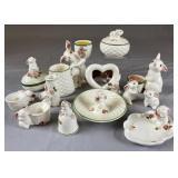 Collection of Vintage Avon Ceramic Bunnies REO