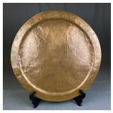 """Heavy Hand Hammered Copper Tray 22"""""""