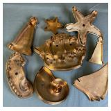 8 Collectible Nautical Copper Cookie Cutters