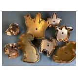8 Copper Easter Cookie Cutters - Michael Bonne