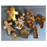 8 Classic Collectible Copper Cookie Cutters