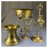 Collection of Decorative Brass Items REO