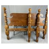 Early 19th C. Full Sized Cannon Ball Rope Bed