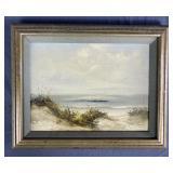 Small Framed Seascape Oil on Canvas Biermann