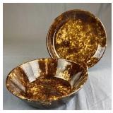 Bennington Rockingham Bowl and Pie Plate