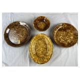 4 Antique Bennington Rockingham Bowls