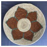 Navajo Sunflower Coil Basket