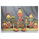 Van Horn Hayward Wooden Folk Art Candleholder