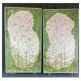 Pair Florals on Canvas Elizabeth Sexton Weiss