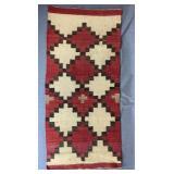 """Antique Hand Made Navajo Rug 42"""" x 19"""""""