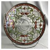 Decorative Round Leaded Glass Window