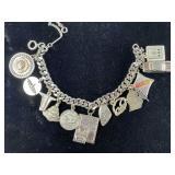 Vintage Oldsmobile Silver Charm Bracelet