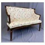 Upholstered Settee Early 20th Century REO