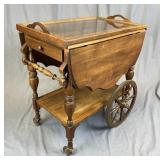 Walnut Tea Cart Circa 1930s
