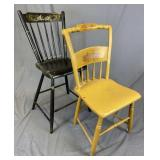2 Antique Painted Chairs