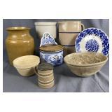 8 pieces of Antique Kitchen Pottery
