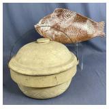 Pottery Bakeware, Star Casserole, Thora Fish