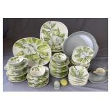 """Redwing Pottery """"Magnolia"""" Partial Dish Set for 8"""